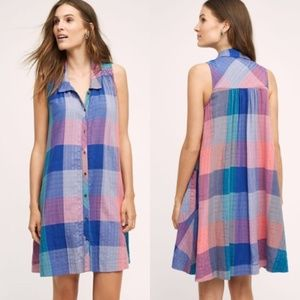 Holding Horses Ronan Plaid Shirt Dress Size M